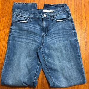 DKNY distressed skinny jeans